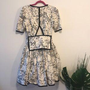 Vintage aseret dress sz 4 black and white